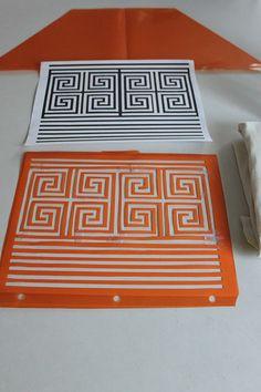 from GARDNERS 2 BERGERS: ✥DIY Greek Key Fabric {with printable} ✥