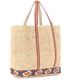 Vanessa Bruno - Cabas raffia shopper | mytheresa.com Vanessa Bruno, Crochet Shell Stitch, Crochet Yarn, Clutch Bag, Hippie Boho, Straw Bag, Reusable Tote Bags, Purses, Clutches