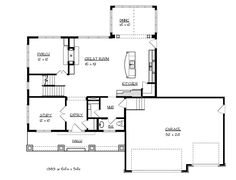 Love the way the kitchen/dining room/living room are set up although the rest of the plan wouldnt work