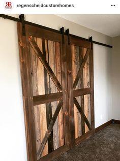 Man Cave Doors, Barnyard Door, Wood Ideas, Barn Wood, Buildings, Divider, Room, Furniture, Home Decor