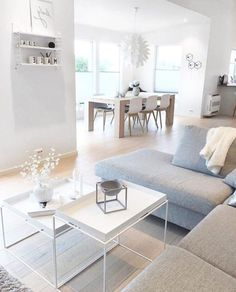 Idea deco living room modern deco modern living room owl idea deco living room dining room coffee table in two levels sofa in light gray angle Scandinavian living room Scandinavian Minimalist Living Room, Scandinavian Interior Living Room, Minimalist Home Decor, Living Room Modern, Interior Design Living Room, Living Room Designs, Modern Minimalist, Minimalist Apartment, Scandinavian Bathroom