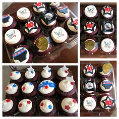 WWE Wrestling Themed Cupcakes!
