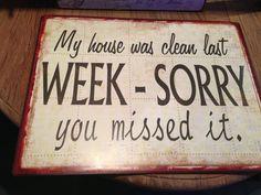 Letzte Woche ...