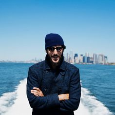 MR Antonio Ciongoli for MR PORTER wearing William Lockie Hat and Cutler and Gross Sunglasses.
