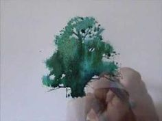 ▶ Watercolor Lessons - Tree Techniques 1, Frank M. Costantino - YouTube