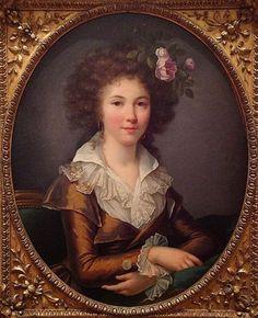 Portrait of a woman, 1790 by Marie-Victoire Lemoine (1754-1820)