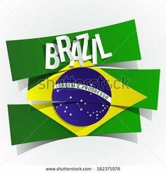 Creative Abstract Brazilian Flag vector illustration by boivin nicolas, via Shutterstock