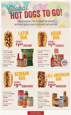 Global Hot Dogs Bar Idea from World Market