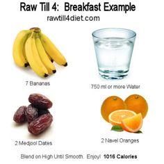 Raw Till 4 Diet Plan