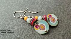 Bohemain Colorful Enamel and Glass Dangle by livewirejewelrysb