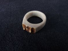 Hey, I found this really awesome Etsy listing at https://www.etsy.com/listing/107120000/deer-antler-ring