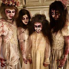 Stunning brides 😍👰🏽🎃 #blood #halloween #halloweenmakeup #spfx #specialeffectsmakeup #fxmakeup #bride
