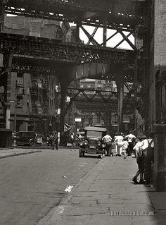 Vintage Street scene of New York City, ca1930