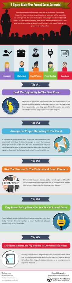 5 Tips to Make your Annual Event Successful #infographic #EventPlanning #Management