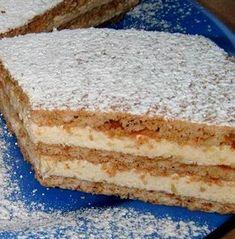 Hungarian Desserts, Hungarian Cake, Hungarian Recipes, Cookie Recipes, Dessert Recipes, Delicious Desserts, Yummy Food, Sweet Cookies, Sweet And Salty