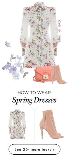 """Hello spring"" by cakebyanna on Polyvore featuring Zimmermann, Longchamp and Gianvito Rossi"