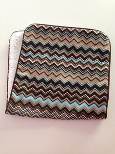 Baby Flannel Chevron Burp Cloth by DirtyRags on Etsy