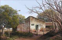 Pinturas de Jorge Frasca  Almacén de Andonaeguy, Buenos Aires, Argentina