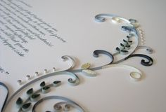 Custom quilled marriage certificate