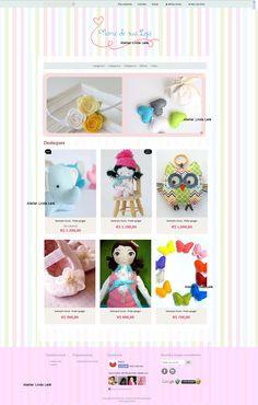 Layout Loja Iluria www.atelierlindalele.com.br http://atelierlindalele.iluria.com/