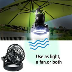Amazon.com : Image Bright Portable LED Camping Lantern Flashlights with Ceiling Fan, Camping Gear Equipment for Outdoor Hiking, Camping, Emergencies, Hurricanes, Outages : Sports & Outdoors