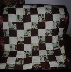 Toddler monkey quilt