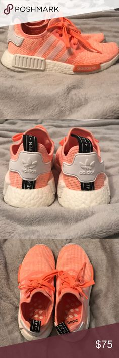 Womens adidas NMD R1 Athletic Shoe Worn about 3 times! Super cute and comfortable. Too bright for my liking :) adidas Shoes Athletic Shoes