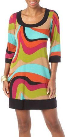 Tiana B Colorblock Shift Dress MULTI Large Tiana B $35.99