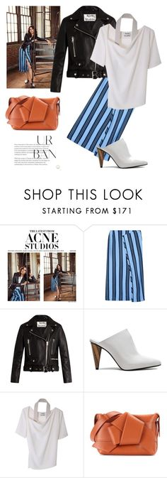 """""""urban with style"""" by gabrielleleroy ❤ liked on Polyvore featuring Acne Studios, mules, perfecto, polyvoreeditorial and BoldStripes"""