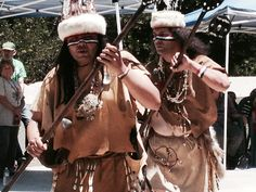 Our Scriptwriters Andrew Morales and Matthew Lovio leading a dance at the Native American Celebration at The Stough Canyon Nature Center in Burbank