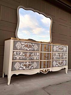 Painted Furniture, Buffet, Dresser, Cabinet, Storage, Home Decor, Clothes Stand, Purse Storage, Powder Room