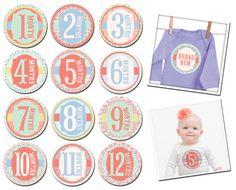 Garden Party - Newborn - 12 months stickers   Boutique Brands
