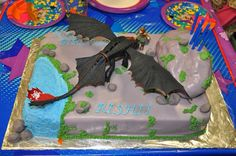 how to train your dragon cake ideas - Google Search