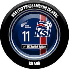 DNZ Football Buttons: Seleção da Islândia