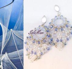 Orecchini Gipsy handmade tessitura perline e cristalli