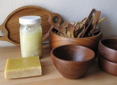 Wooden Spoon Oil by mixing heated walnut oil with melted beeswax for your wooden kitchenware.