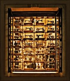ButtonArtMuseum.com - antique sewing machine, store display