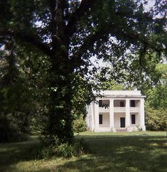 "This is the old ""Barker Slave Quarters,"" the slave housing for the long-gone Kirkpatrick mansion (http://en.wikipedia.org/wiki/File:Kirkpatrick_House_Cahaba.jpg) in Old Cahawba. The mansion burned in the 1930s. This two-story brick slave houses still stands, and is WAY more elaborate and elegant than your typical slave quarters, rumor being that Mr. Kirkpatrick wanted everything on his estate to be grander than others."