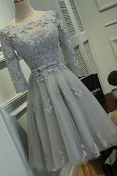 Homecoming Dresses 2018 #HomecomingDresses2018, Prom Dresses A-Line #PromDressesALine, Prom Dresses Lace #PromDressesLace, Short Prom Dresses #ShortPromDresses