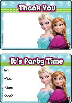 {free} Frozen printable Invitations