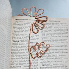 copper daisy bookmark by MarieYoungdesigns on Etsy, $15.00