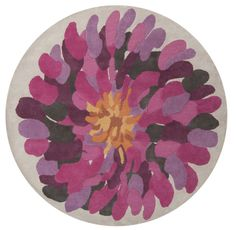 Surya BST529 Bombay Pink, Purple Round Area Rug