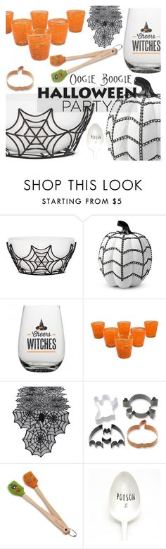 """""""Halloween Party Decor"""" by aislinnhamilton1993 ❤ liked on Polyvore featuring interior, interiors, interior design, home, home decor, interior decorating, Improvements, NOVICA, Design Imports and Williams-Sonoma"""