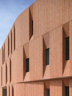 Image result for vertical brick facade