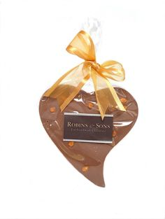 Salted Caramel Nibble Belgian Chocolate Heart by Robins & Sons Chocolatiers on Gourmly