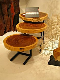 Called Live Edge Furniture (Think wood slices)