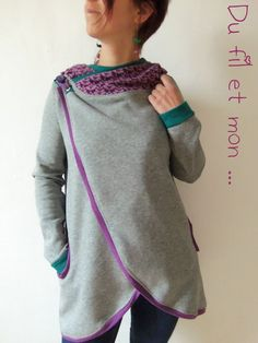 La veste Hazel de Le KIMI     J'avais vu ce modèle sur le chouette blog d'une chouette nana : Linet ou Lilula :   c'est ICI   Elle a...