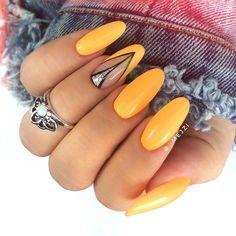 Here are the 10 most popular nail polish colors at OPI - My Nails Neon Nail Designs, Crazy Nail Designs, Yellow Nails, Green Nails, Shellac Nails, Nail Polish, Cute Nails, Pretty Nails, Long Round Nails