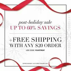 Post Holiday sale and #freeshipping. Use code your treat.