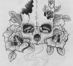 Design skull on We Heart It
